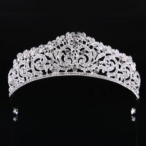 Mode Haute Qualité Cristal Exquis Cristal De Mariée 2019 Femmes Concours De Bal Diadèmes Bijoux De Cheveux Accessoires Coiffure
