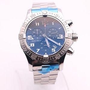 vente chaude top magasin jason007 montres hommes NOIR CADRAN SS regarder avenger seawolf chronographe quartz Batterie de sport regarder les hommes habillent montres