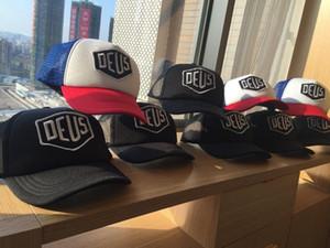 Vendita calda Deus Ex Machina Baylands Trucker snapback Cap nero MOTOCICLI maglia cappello da baseball sport icona drake 6 pannello hip hop dio cap