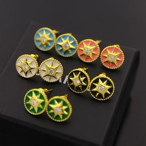 orecchio produttore Nail accessori moda tre set di multa di rame placcato stella tondo piatto goccia Orecchini orecchini di olio di design