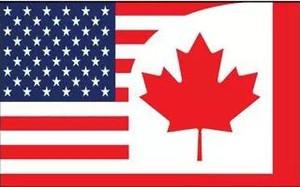 Kanada Birleşik Devletleri Dostluk Bayrak 3ft x 5ft Polyester Afiş Uçan 150 * 90 cm Özel bayrak açık
