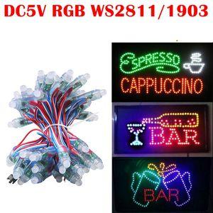 Led Piksel Modülü ışıkları RGB WS2811 IC 12mm IP65 Su Geçirmez nokta ışıkları DC 5 V Dize Noel Harfler Işareti için Adreslenebilir Işık