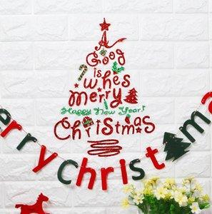 Albero di Natale lettere bastone Wall Art Decal Mural Home Room Decor Wall Sticke