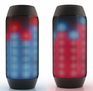 Da DHL Free Nuovo altoparlante senza fili Bluetooth PULSE con luci a LED Mini altoparlanti portatili Supporto NFC U-disck TF Card colorato di alta qualità