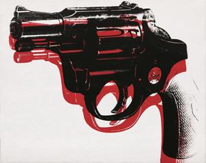Andy Warhol Gun Hochwertige handgemalte Kunst Ölgemälde auf Leinwand Multi Größen erhältlich versandkostenfrei berkpr103