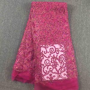 아프리카의 아름다운 Tulle Lace, 031, 무료 배송 아프리카의 웨딩 레이스 High Quality5yards / Lot, 100 % African Embroidery Fabric