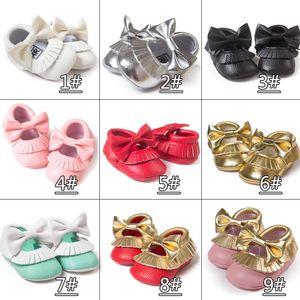 طفل لينة بو الجلود شرابة الأخفاف ووكر حذاء طفل رضيع القوس هامش شرابة الأحذية الخف ألوان مختلفة تختار بحرية