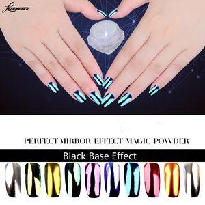 Prego novo 10colors Metallic Magic Mirror Chrome Efeito poeira Art Pó