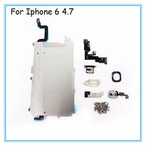 Full Sets For iPhone 5 Digitizer 5c LCD 5s Touch Camera Metal Speaker button Display 7 Bracket Plate home Front For iPhone 6 7 6S Ear P Ihdx