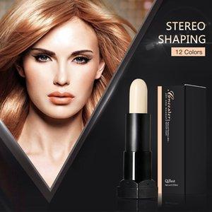 Qibest 3D Cover Stick Concealer Natural Flawless Blemsh Cream Shaping Makeup Sticks 12 цветов Яркий и темный