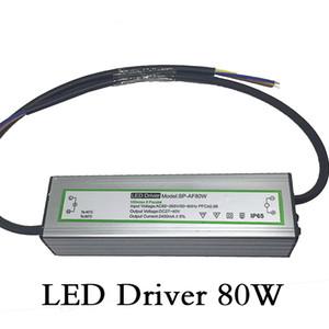 الصمام سائق 80W الإضاءة المحولات للماء المدخلات الجهد AC85-265V الناتج DC27-40V ثابت الحالية 2400ma الصمام التيار الكهربائي الألومنيوم