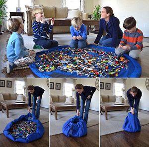 Großhandel-pudcoco Neueste Ankünfte Hot Infant Neugeborenen Kleinkind 150 cm Tragbare Kinder Spielmatte Aufbewahrungstasche Spielzeug Veranstalter Kinder Spielmatten