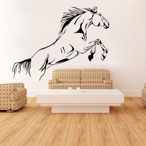 Caballo corriendo Animal Wall Stickers Mural para sala de estar Dormitorio Porche Decoración del hogar PVC Large Wall Decorative Decals