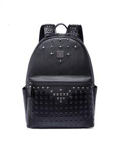 Büyük kapasiteli ünlü tasarımcı perçin Punk tarzı yüksek kalite erkekler omuz sırt çantası okul öğrenci bookbag marka sırt çantası sıcak satış seyahat çantaları