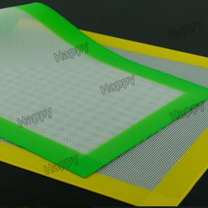 31x20 cm yapışmaz Silikon Fiberglas Pişirme Mat Isıya Dayanıklı Pişirme Pad Konsantre Aksesuar Sigara Dab Pad Paspaslar