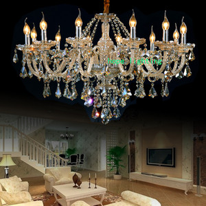 Eleganter Kristallleuchter des Wohnzimmers moderne Kristallleuchterkette Luxusleuchter führten Champagnerkristallleuchter mit hängender Lampe