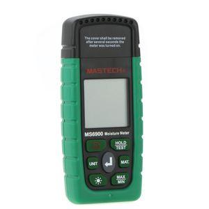 Atacado-Mastech MS6900 Digital Medidor de Temperatura da Umidade da Madeira Medidor de Umidade