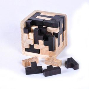 Atacado-2016 Hot Sale Educacional Puzzles De Madeira Para Adultos Crianças Cérebro Teaser 3D Rússia Ming Luban FCI #