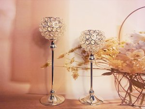 crystal centerpieces with flower bowl  crystal ball for wedding decor