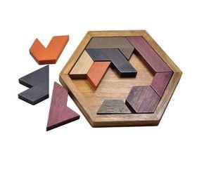 Puzzles para niños Juguetes de madera Tangram / Jigsaw Board Forma geométrica de madera P Niños Juguetes educativos clásicos Venta al por mayor envío gratuito