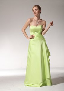 A-Line Floor Length Party Dress Scoop Neckline Floor Length Satin Formal Evening Dress Bridesmaid Prom Gowns