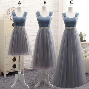 Tule Tulle dama de honra vestidos de renda até 2019 em estoque casamento vestidos formais linda dama de honra vestidos de transporte rápido »