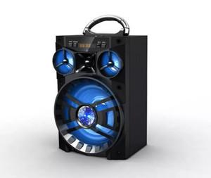 Big Sound HiFi Haut-parleur portable Bluetooth Aux haut-parleurs Basse Subwoofer sans fil Subwoofer Boîte de musique extérieure avec USB LED Light TF Radio FM