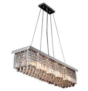 Illuminazione moderna moderna del pendente di cristallo della lampada da soffitto della luce del pendente (lunghezza 47.2 pollici / 120cm) LLFA