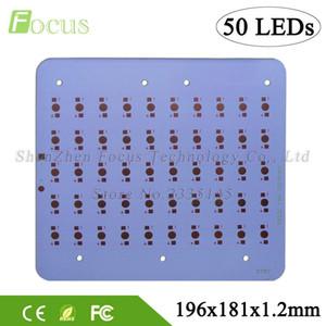 1W 3W 5W Plaque en aluminium 196 * 181 * 1.2mm Plaque de dissipateur de chaleur pour PCB de puissance élevée DIY 50W / 150W Ampoule LED pour 1 3 5 watts perles de lumière