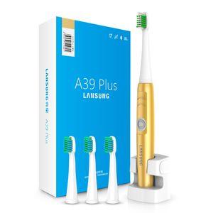 Lansung A39Plus Kablosuz Şarj Elektrikli Diş Fırçası Ultrasonik Sonic Döner Elektrikli Diş Fırçası Şarj Edilebilir Diş Fırçası Yetişkin çocuklar