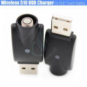 Sem fio 510 mini USB Adaptador de Carregador BUD touch ego thread bateria IC Proteção e cigs Cigarros Eletrônicos esmart Cartuchos carregadores DHL