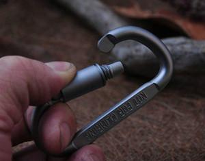 Carabiner 링 Keyrings 열쇠 고리 옥외 운동 캠프 스냅 클립 걸이 Keychains 하이킹 알루미늄 금속 스테인리스 하이킹 야영 후크