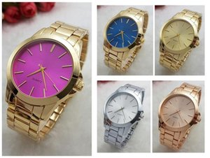 Multicolor New Fashion Luxury High Quality Design Women Quality Watches Stainless Steel Quartz Watches Wholesale Free Shipping