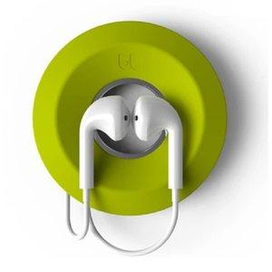 Cable enrollador auricular de gestión magnética de silicona auricular titular linda caja de cable de dona caja de auriculares titular al por mayor precio barato