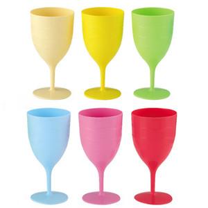 Renkli Plastik Bırak Direnç Şarap Kadeh Şarap Ayakta Bardak Şarap Gözlük Toptan DHL FEDEX Ücretsiz Kargo