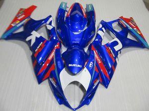 El kit de carenado más vendido para Suzuki GSXR1000 07 08 azul rojo carenados set GSXR1000 2007 2008 OT26