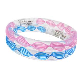 Vente en gros- Texture transparente LED Couleur clignotante Changement de bracelet Glow Bracelet Shop BS88