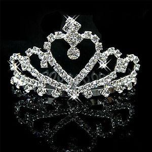Cristalli d'argento brillanti Diademi nuziali Perline Corone nuziali Strass Accessori per capelli Accessori per capelli economici Diadema
