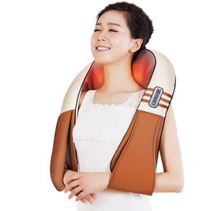 (mit Geschenk-Kasten) U-Form elektrisches Shiatsu zurück Ansatz-Schulter-Körper-Massager-Infrarot erhitztes knetendes Auto / Hauptmassage