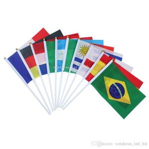 8 # 14 x 21 cm hohe qualität ausländische fahnen kleine hand welle fahnen banner flag banner länder fahnen schmücken alle nationen