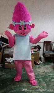 Nouvelle Mascotte Costume Trolls Mascot Parade Qualité Clowns Anniversaires Troll