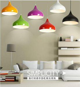 Новинка красочные алюминиевые подвесные светильники бар ресторан спальни большой торговый центр E27 искусство подвесные светильники