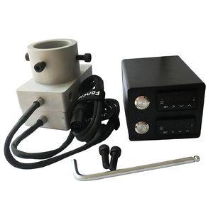 Placas de Alumínio Prensa de Rosin Double Holes Dual PID Prego Eletrônico Caixa de Controle de Temperatura E Prego com Aquecedores e Bobina Aquecedor