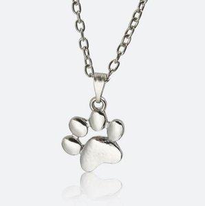 Fußabdrücke PAW Kette Anhänger Halskette Dame Nette Haustiere Hunde Charme Halsketten Anhänger Schmuck Für Mädchen Frauen Pullover Aussage Halskette Schmuck