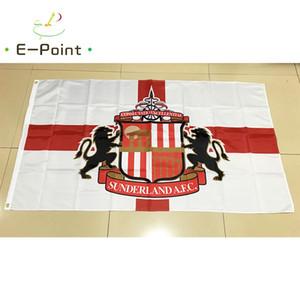 Angleterre Sunderland Association FC Polyester EPL drapeau Bannière décoration volant maison drapeau du jardin cadeaux de fête