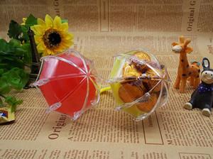 Yeni Çok renkli Şemsiye Favor Kutuları Düğün Doğum Günü Partisi Iyilik Sahipleri Şekerleri Bebek Duş çocuk Günleri Şeker Kutuları