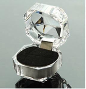 Epackfree 100pcs 3colors Ring-Kasten-Schmucksache-freier Acrylschmucksache-Kastenhochzeitsgeschenkkastenringbolzen-Staubsteckerkasten