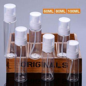 60ML 80ML 100ML غسول مستحضرات التجميل زجاجة السفر زجاجة رذاذ بلاستيكية شفافة PET قوارير مسحوق مضخة منقار زجاجة F2017454