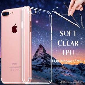0,3 milímetros slim ultra fino suave cobertura flexível TPU Gel Transparente Limpar colorido câmera completa caso capa para o iPhone 8 7 Plus 6 6S SE 5 5S