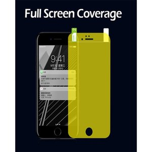 DHL Full Cover Screen Protector Film Ultra Thin soft TPU Gold Protective Low Clear Use Layer Screen Protective for iPhone6 6plus  7  7 plus